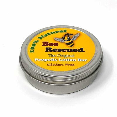 solid lotion bar with bee propolis by Bee Rescued